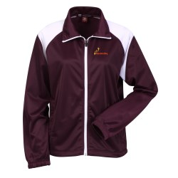 View a larger, more detailed picture of the Harriton Tricot Track Jacket - Ladies