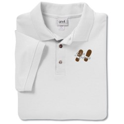 View a larger, more detailed picture of the Anvil Stain Repel Sport Shirt -Men s - White