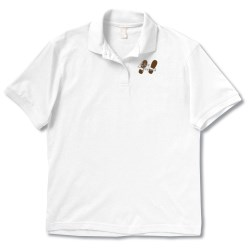 View a larger, more detailed picture of the Anvil Stain Repel Sport Shirt - Ladies - White