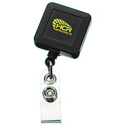 View a larger, more detailed picture of the Economy Retractable Badge Holder - Square - Opaque - 24 hr