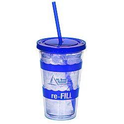 View a larger, more detailed picture of the Wavy Color Scheme Spirit Tumbler - 16 oz - 24 hr