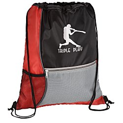 View a larger, more detailed picture of the Color Block Drawstring Sportpack