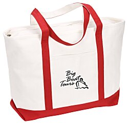 View a larger, more detailed picture of the Large Heavyweight Cotton Canvas Boat Tote - Screen