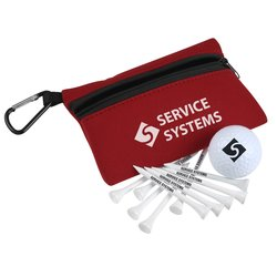 View a larger, more detailed picture of the Golf Ball Tees Pouch Kit - Closeout