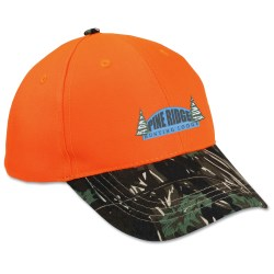 View a larger, more detailed picture of the Two-Tone Camouflage Cap - Orange