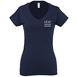 View a larger, more detailed picture of the Gildan Softstyle V-Neck T-Shirt - Ladies - Colors