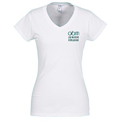 View a larger, more detailed picture of the Gildan Softstyle V-Neck T-Shirt - Ladies - White