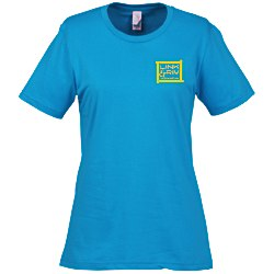 View a larger, more detailed picture of the Anvil Ringspun 4 5 oz T-Shirt - Ladies - Colors