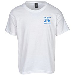 View a larger, more detailed picture of the Anvil Ringspun 4 5 oz T-Shirt - Youth - White