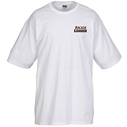 View a larger, more detailed picture of the Gildan Tall 6 oz Cotton T-Shirt - Men s - White