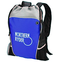 View a larger, more detailed picture of the Hiker s Two-Tone Drawstring Backpack