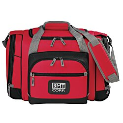 View a larger, more detailed picture of the 24-Can Convertible Duffel Cooler - 24 hr