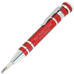 View a larger, more detailed picture of the Pocket Pal Aluminum Tool Pen - 24 hr