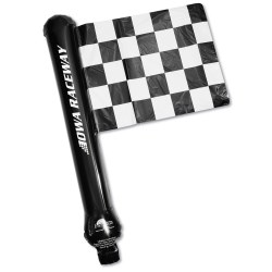View a larger, more detailed picture of the Rally Flag Balloon - Checkered Flag - Closeout