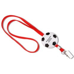 View a larger, more detailed picture of the Sport Foam w Lanyard - Soccer Ball - Closeout