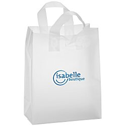 View a larger, more detailed picture of the Soft-Loop Frosted Clear Shopper - 13 x 10 - Foil