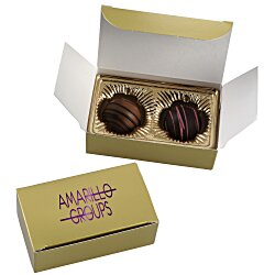 View a larger, more detailed picture of the Truffles - 2 Pieces - Gold Box