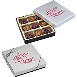 View a larger, more detailed picture of the Truffles - 9 Pieces - Silver Box