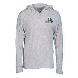 View a larger, more detailed picture of the Next Level Tri-Blend Hoodie - Embroidered - White