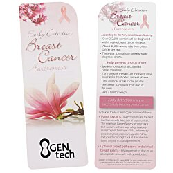 View a larger, more detailed picture of the Just the Facts Bookmark - Breast Cancer Awareness - 24 hr