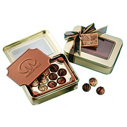 View a larger, more detailed picture of the Chocolate Box with Truffles - Large