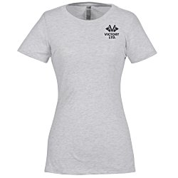 View a larger, more detailed picture of the Next Level Tri-Blend Crew T-Shirt - Ladies - White