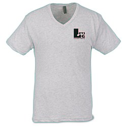 View a larger, more detailed picture of the Next Level Tri-Blend V-Neck T-Shirt - Men s - White
