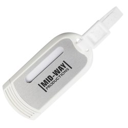 View a larger, more detailed picture of the Luggage Tag w Silver Plate - Closeout