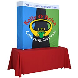 View a larger, more detailed picture of the Splash Curved Tabletop Display - 5 - Wrap Graphics