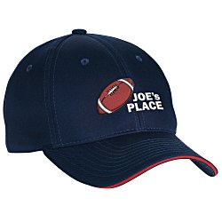View a larger, more detailed picture of the Valucap Poly Cotton Sandwich Cap