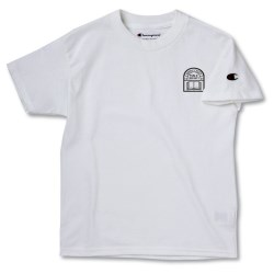 View a larger, more detailed picture of the Champion Tagless T-Shirt - Youth - White