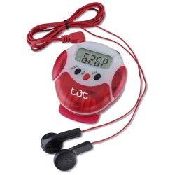 View a larger, more detailed picture of the Pinnacle Pedometer Radio - Closeout