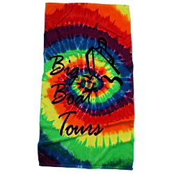 View a larger, more detailed picture of the Tie-Dye Beach Towel - Swirl