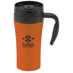 View a larger, more detailed picture of the Double Lock Stainless Travel Mug - 16 oz - Closeout