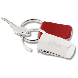 View a larger, more detailed picture of the Groove-N-Lock Thumb Pad Key Tag - Closeout