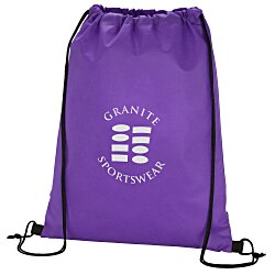 View a larger, more detailed picture of the Promotional Drawstring Sportpack - 24 hr