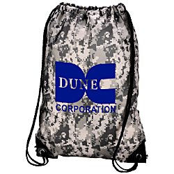View a larger, more detailed picture of the Drawstring Sportpack - 18 x 14 - Digital Camo - 24 hr