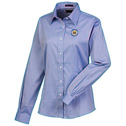 View a larger, more detailed picture of the Wrinkle-Free Pinpoint Dress Shirt - Ladies