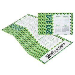 View a larger, more detailed picture of the Z-Fold Calendar - Diamond