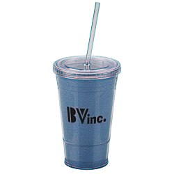 View a larger, more detailed picture of the Glitter Tumbler with Straw - 16 oz