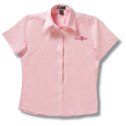 View a larger, more detailed picture of the Easy Care Short Sleeve Dress Shirt - Ladies - Closeout