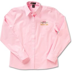 View a larger, more detailed picture of the Easy Care Long Sleeve Dress Shirt - Ladies - Closeout