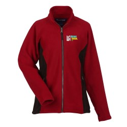 View a larger, more detailed picture of the Katahdin Tek Colorblock Fleece Jacket - Ladies - Closeout