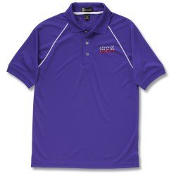 View a larger, more detailed picture of the Moisture Management Polo with Piping - Men s - Closeout