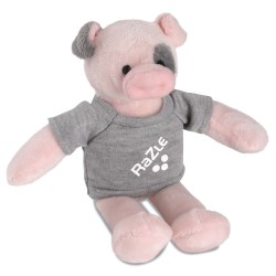 View a larger, more detailed picture of the Mascot Beanie Animal - Pig