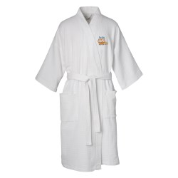 View a larger, more detailed picture of the Waffle Weave Robe - Overstock