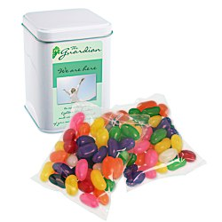 View a larger, more detailed picture of the Canister Tin - Assorted Jelly Beans