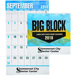 View a larger, more detailed picture of the Big Block Calendar - Spiral