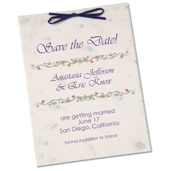View a larger, more detailed picture of the Seeded Invitation Program - 7 x 5 - Forget Me Not
