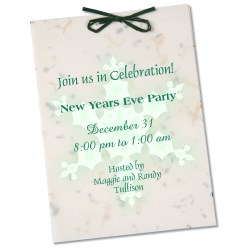View a larger, more detailed picture of the Seeded Invitation Program - 7 x 5 - Parsley